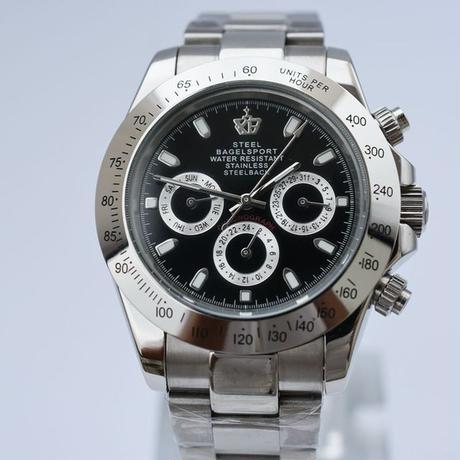 Steelbagelsport 機械式腕時計 クラシック 自動巻