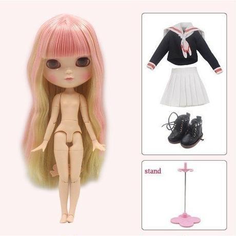 アイシードール キャラクタードール カスタムドール 本体と洋服のセット  フルセット 着せ替え人形