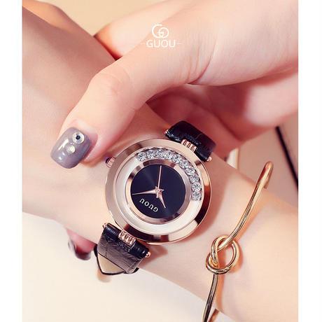 GUOU 腕時計 レディース ラグジュアリーウォッチ