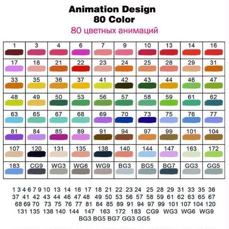 Touchnew アニメーションマーカーペンセット 80色+5アイテムセット