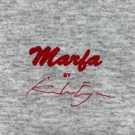 Marfa Titled Hoodie Beautiful Paprika, Ash