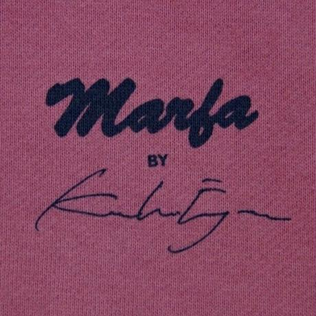 Marfa Titled Sweatshirt Dyed Thin Red