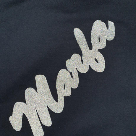 Marfa Titled Hoodie Black Reflection