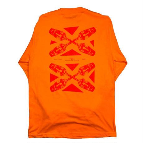 Dos caras L/S Orange, White