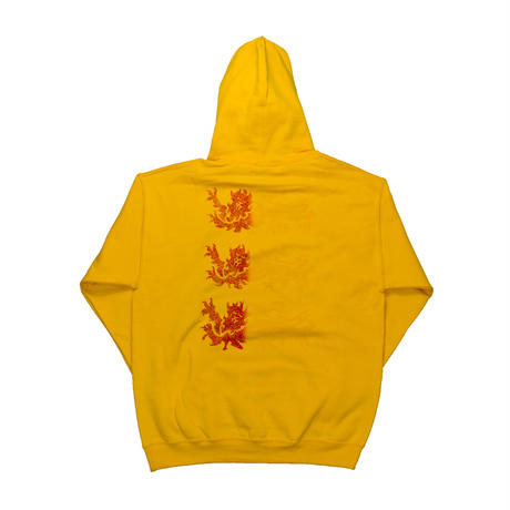 Three Lions Hoodie Gold, White