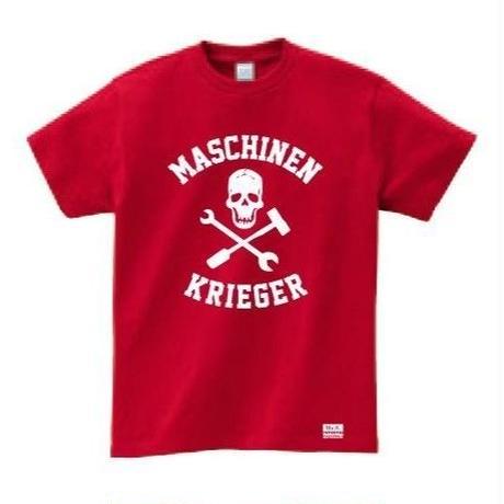 """Ma.K Tシャツ """"スカル SKULL """" ガーネットレッド(RED)"""