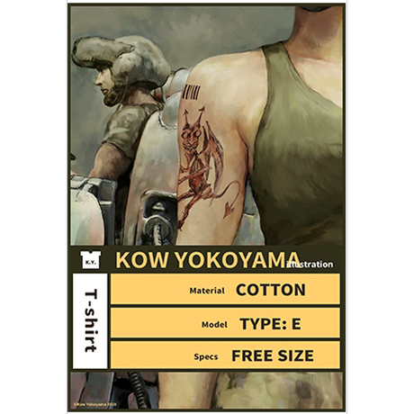 Kow yokoyama  Maschinen Krieger exhibition  T-shirt TYPE:E