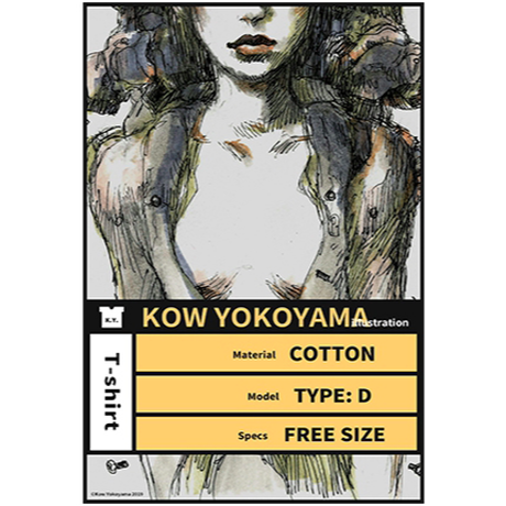 【送料無料】Kow yokoyama  Maschinen Krieger exhibition T-shirt TYPE:D