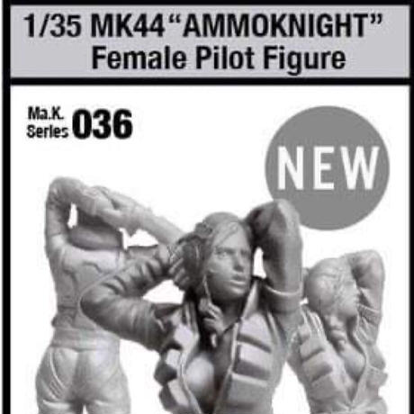 [SHIPPING AT MID MAY] 1/35 MK44Female Pilot Figure