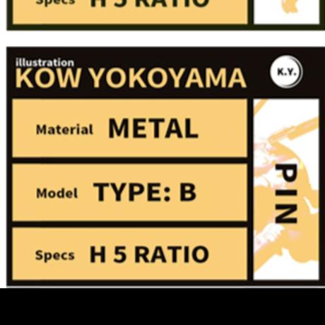 【送料無料】Kow yokoyama  Maschinen Krieger exhibition Metal Pins TYPE:B