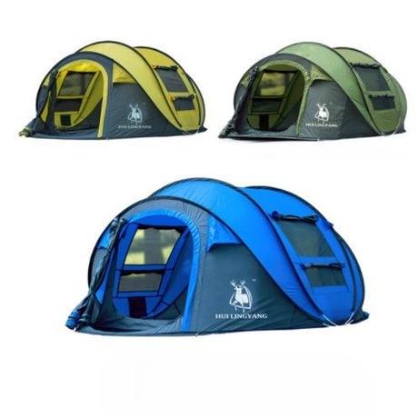 テント  3~4人用 激安 キャンプ ファミリー 大型 防風・防水 投げるだけで簡単設置 雨 風 強い