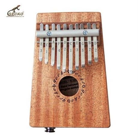 アフリカ 楽器 カリンバ マホガニー材 10キー 親指ピアノ 民族楽器