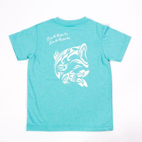 オーガニックコットンTシャツ(ターコイズブルー)
