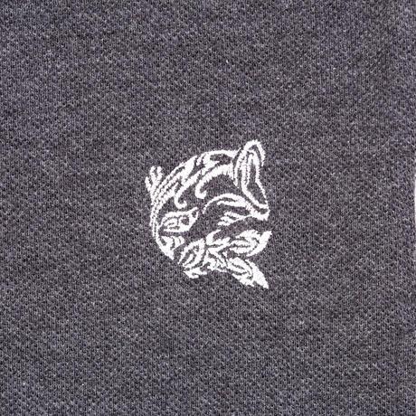 オーガニックコットンポロシャツ(チャコールグレー)