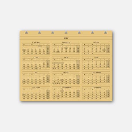 2021 D7 MONTHLY SCHEDULE(印刷版)