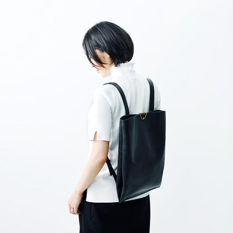 Leather clip backpack