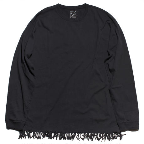FRINGE LONG TEE  (NAVY)