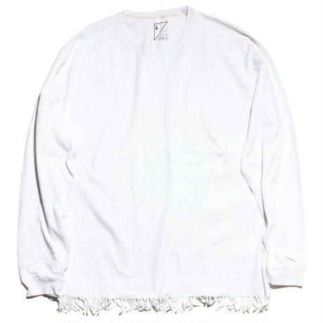 FRINGE LONG TEE (WHITE)