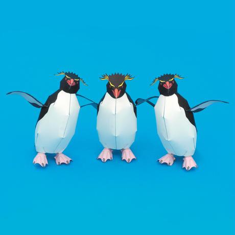 イワトビペンギン:Rockhopper Penguin(紙工作キット)
