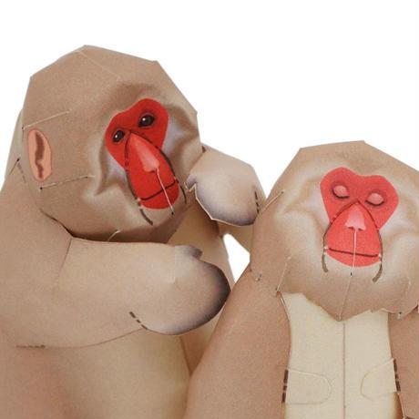 ニホンザル:Japanese Macaque(紙工作キット)
