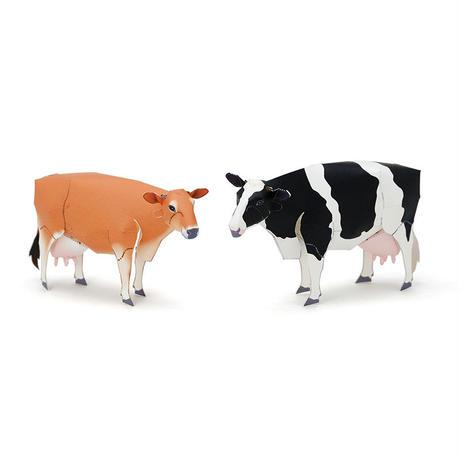 乳牛(ホルスタイン種・ジャージー種) :Cow(Holstein Cow / Jersey Cow)(紙工作キット)