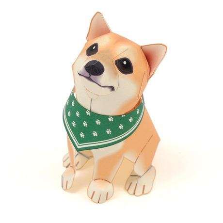 柴犬(シバイヌ) :Siba Inu(紙工作キット)