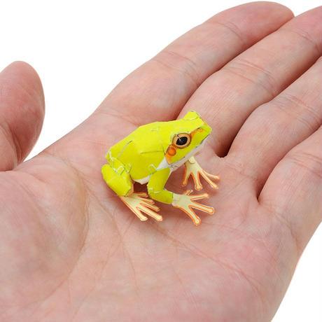 あまがえる(8体入りちびシート):Japanese Tree Frog(紙工作キット)