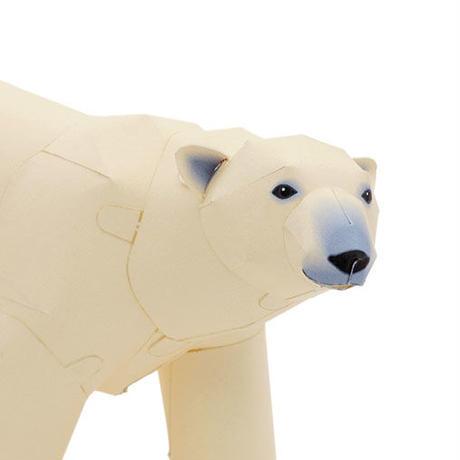 ホッキョクグマ:Polar Bear(紙工作キット)