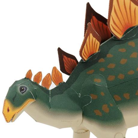 ステゴサウルス:Stegosaurus(紙工作キット)