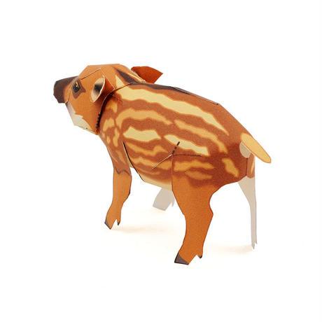 ウリ坊(イノシシ) :Wild boar Cub(紙工作キット)