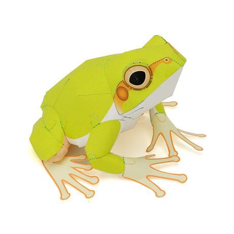 あまがえる(手のひらサイズ):Japanese Tree Frog(紙工作キット)