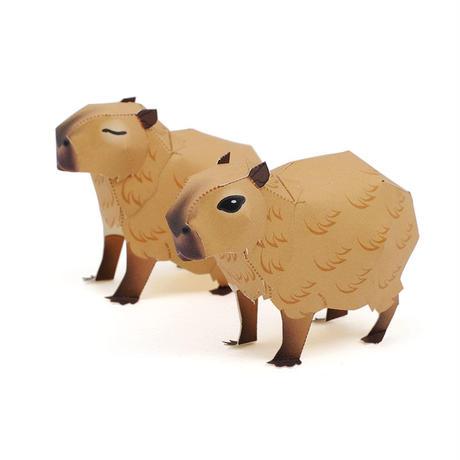 カピバラ :Capybara(紙工作キット)