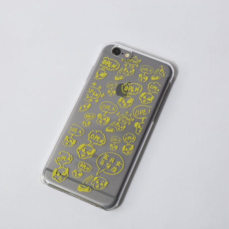 iPhone5/5S、6ケース[OPEN!yellow]