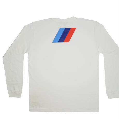 ''M POWER'' LS TEE WHT