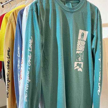 ONE LOVE L/S TEE [GREEN]