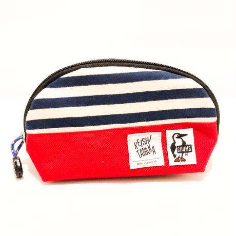 CHUMS POUCH [RED×STRIPES]