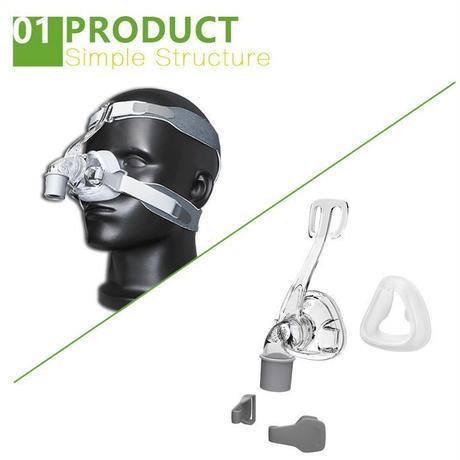 BMC NM4 鼻マスク CPAP 持続式陽圧呼吸療法 マスク ヘッドギア SML シリコン クッション 睡眠 いびき 無呼吸 防止 健康 改善