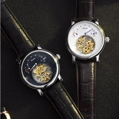 高級ブランド NESUN 自動巻き 機械式 腕時計 メンズ トゥールビヨン サファイアクリスタル