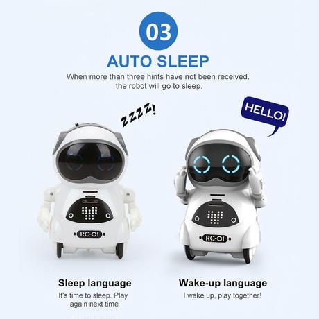 ポケット ロボット インタラクティブ 対話 音声 認識 記録 歌 ダンス 物語 知能 おもちゃ