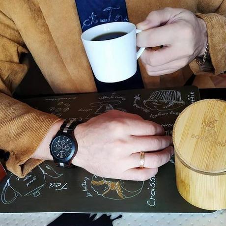 腕時計 男性 木製 ストップウォッチ スポーツ 金属 木材 時計 ギフト 木箱付き