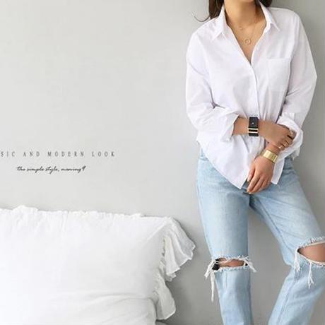 2019 女性 白シャツ フェミニン ブラウス 長袖 カジュアル OLスタイル 女性