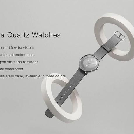 XIAOMI Mi Mijia クォーツ スマート 生活防水 ダブルダイヤル アラーセンサー 革バンド アプリ