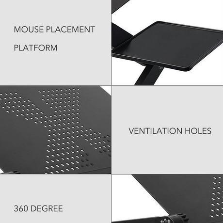 調整可能なPCデスク 人間工学 ノートパソコン トレイ スタンド テーブル