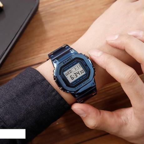 防水 クロノグラフ カウントダウン デジタル時計 男性 ファッション 屋外 スポーツ 腕時計トップブランド SKMEI メンズ