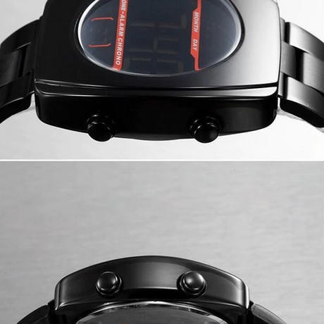 メンズ 腕時計 デジタル ディスプレイ スポーツ 防水 LED 2020年製