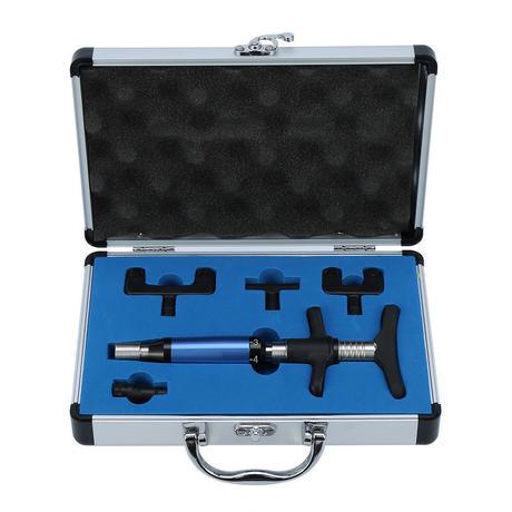 6段階 4ヘッド カイロプラクティック 調整ツール 脊椎 インパルス アクティベーター 治療 矯正器具 ケース付き