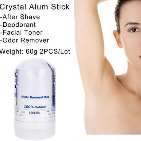 60g クリスタルデオドラント ミョウバン スティック 脇の下 制汗 男性 女性 臭い対策 ロールオン