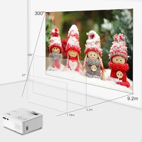 ARTLII小型ホームプロジェクター1080PWiFi/Bluetoothズーム/台形補正5800lm内蔵スピーカー操作簡単スマホ/パソコン/PS4/ゲーム機USB/SD/HDMI