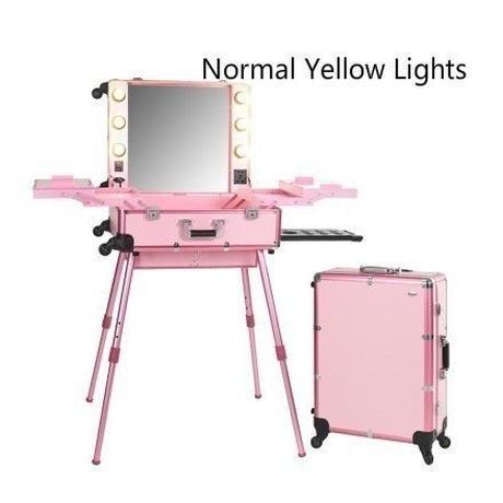 選べる本体カラー&ライトカラー ハリウッドミラー スーツケース メイクステーション プロ用