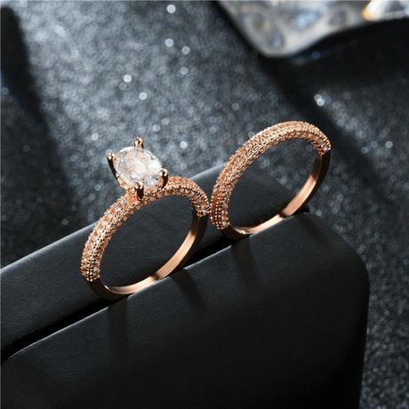 キュービック ジルコニア リング ジュエリー 高品質 婚約指輪 ペアリング